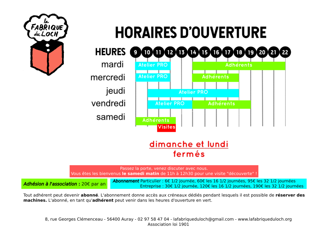 Horaire site2 2019