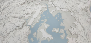 Maquette XXL du Golfe en réalité augmentée